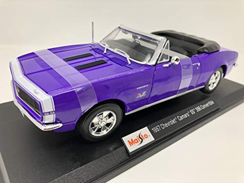 Maisto 1967 Chevrolet Camaro SS 396 Convertible 1:18 Purple