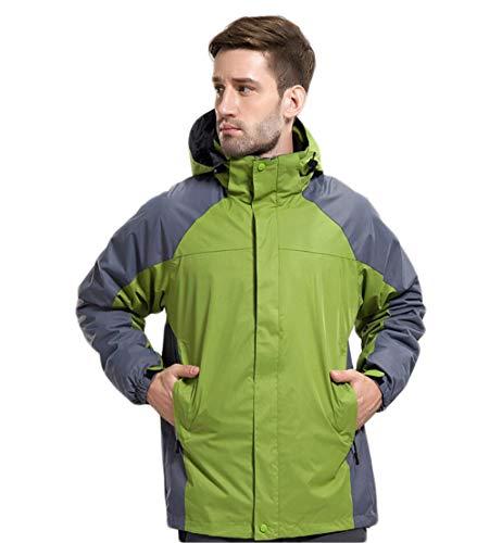 Men's Jacket Waterproof Windproof Red Liner Detachable Fleece Jacket Outdoor xx6rw4