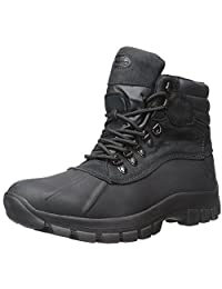 Men Warm Long Waterproof Winter Snow Leather Boots