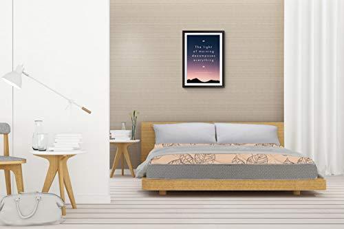 SLEEPSPA Pure Sleep Premium Orthopaedic 6 inch King Size Bonnell Spring Mattress  Beige,75x72x6
