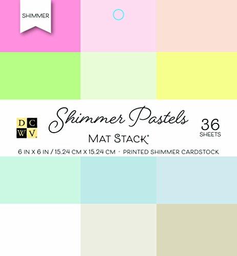 American Crafts Cartulina DCWV 15,2x 15,2cm Shimmer Cartulina Pila: Pastel