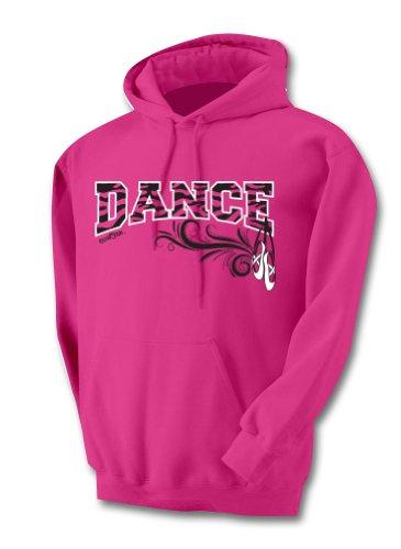 Sports Katz Big Girls 'Zebra' DANCE Hoodie Heliconia Youth Medium ()