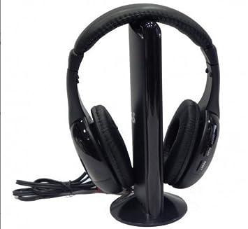 DONDONBCN-AURICULARES INALAMBRICOS CASCOS INALAMBRICOS SIN CABLE CON RADIO 5-1 CON MICROFONO MP3