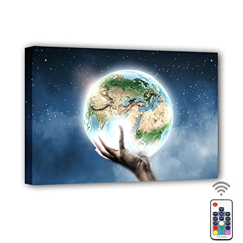 Coming My House Canvas Prints Wall Art Led with Remote Control, 7 Color Changing Canvas Wall Decor for Home, Living Room, Office or Classroom | 15.75