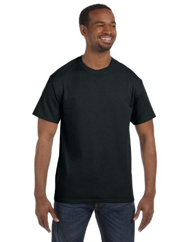 Jerzees Tall 5.6 Oz., 50/50 Heavyweight Blend T-Shirt (29MT)- Black,XL Tall