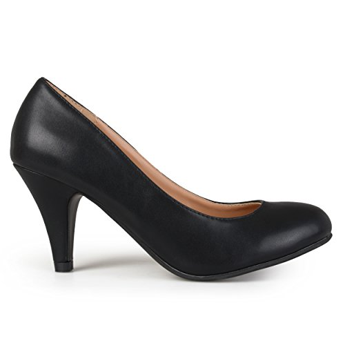 Pictures of Brinley Co Women's Yung Dress Pump Black Smooth 8.5 M US 1