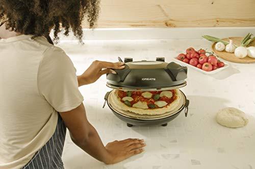 CREATE IKOHS PIZZA MAKER - Forno elettrico per pizze, Base speciale in pietra per cottura della pizza, 31 CM, 1200 W… 2