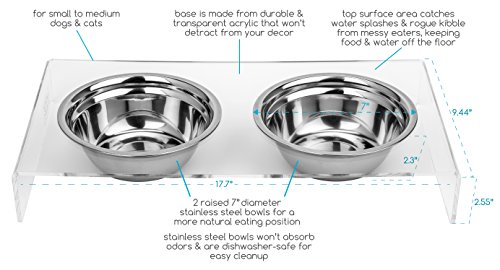 Cat-and-Dog-Stainless-Steel-Food-and-Water-Bowls-with-Stand-Helps-With-Messy-Pets-Non-slip-Easy-to-clean-Attractive-with-any-decor