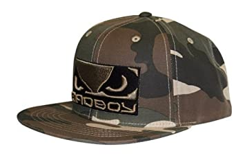 600cc63925ad3 Image Unavailable. Image not available for. Colour  Bad Boy mma Green Camo  SnapBack Walkin Cap ...