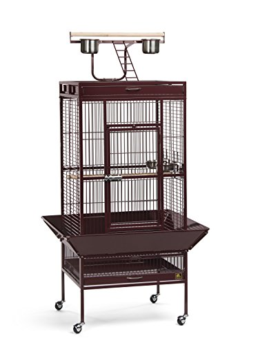 Prevue Pet Products Wrought Iron Select Bird Cage, 24-Inch by 20-Inch by 60-Inch, Garnet Red