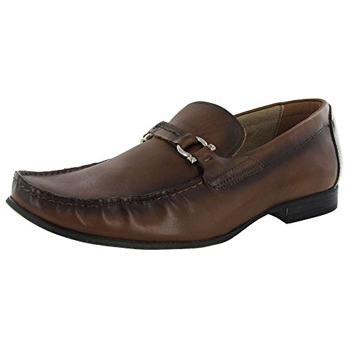 Mens On Loafer Steve Slip Tan Shoe Madden Wreker P Leather 5qwxS7X