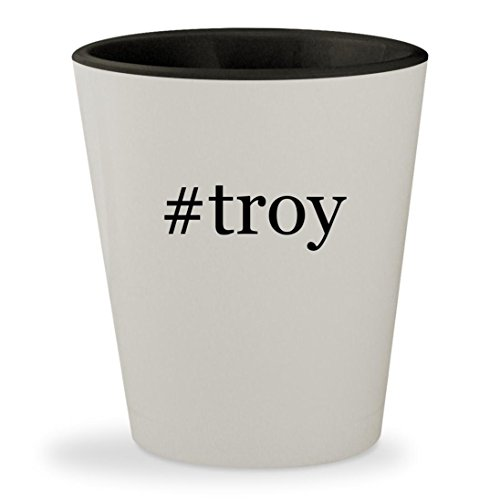 Troy Polamalu Game (#troy - Hashtag White Outer & Black Inner Ceramic 1.5oz Shot Glass)