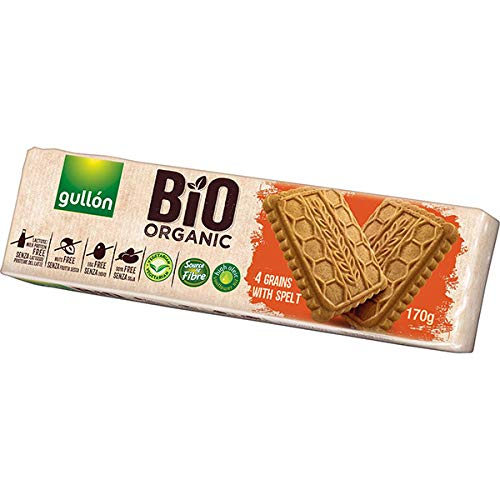 Gullon Bio Organic Galletas con Espelta sin Lactosa, Huevo ...