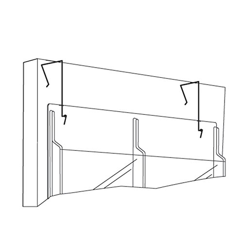 (Safco Products 5661NC Wire Partition Panel Hanger for use with all Reveal Literature Displays (sold separately), Black)