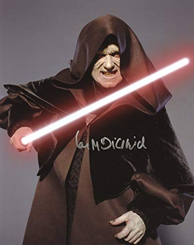 Ian McDiarmid STAR WARS RETURN OF THE JEDI In Person Autographed Photo