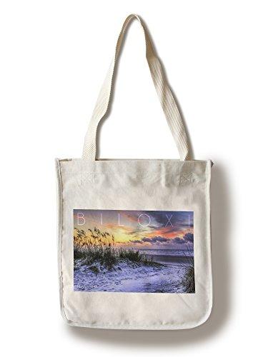 Biloxi, Mississippi - Sunrise Beach Scene (100% Cotton Tote Bag - - Shopping Mississippi Biloxi