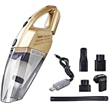 Strong Suction Handheld Wet/Dry Car Vacuum Cleaner High Power Portable Cordless Vacuum Cleaner Golden