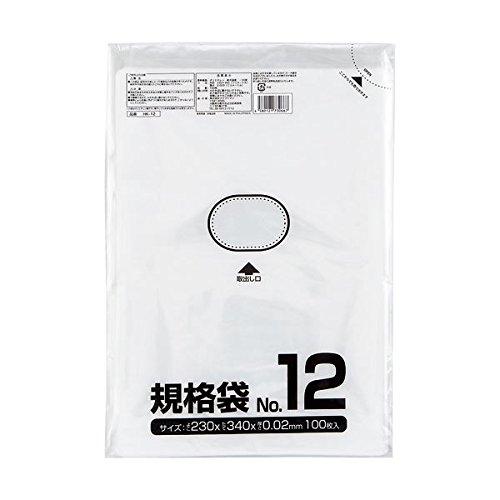 クラフトマン 規格袋 12号 ヨコ230×タテ340×厚み0.02mm HKT-006 1セット(1000枚:100枚×10パック) (×5セット) B078YHJKHW