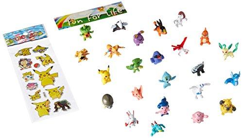 "Fun Brick TM Pokemon Pikachu Monster Mini Action Figures Toy (Lot of 24 Piece), 1"""