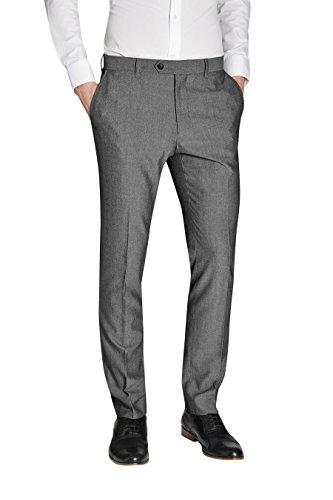 next Homme Pantalon sans pinces Gris Clair 32 / Regular - Skinny Fit