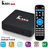 K&A Company Box Tv Player Android Media Core Quad Smart Wifi TV Box Player WiFi Bluetooth Android 6.0 Octa Core 2GB 16GB
