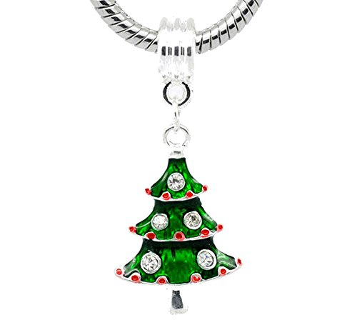 Buckets of Beads Decorated Christmas Tree Dangle Charm Bead Fits Pandora Troll Biagi Zable (Decorated Bucket)