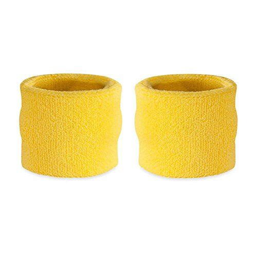 Suddora Kids Wrist Sweatband Also Available in Neon Colors - Athletic Cotton Terry Cloth Wristband for Sports (Pair) (Neon (2)