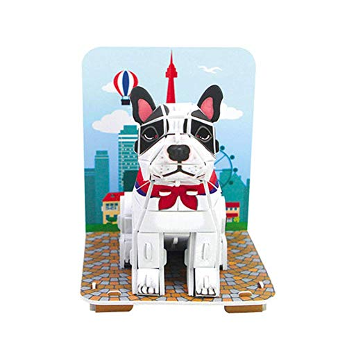 POP OUT WORLD Make My Pet 3D Puzzle, 42 Pieces French -