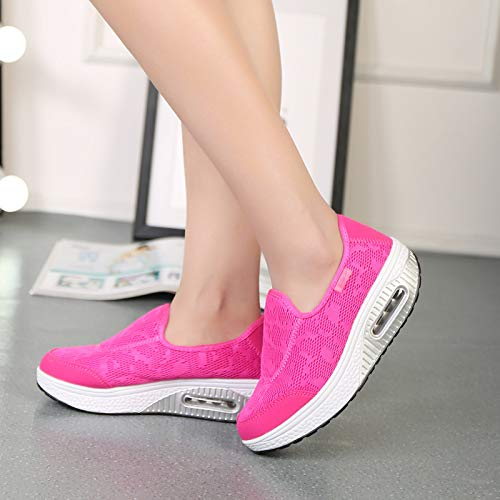 Sale Thick Sneakers Cushion Outdoor Sports Women Pink FarJing Mesh Shoes Soled Casual Shoes Clearance Air Shoes Sneakers xSqwSA