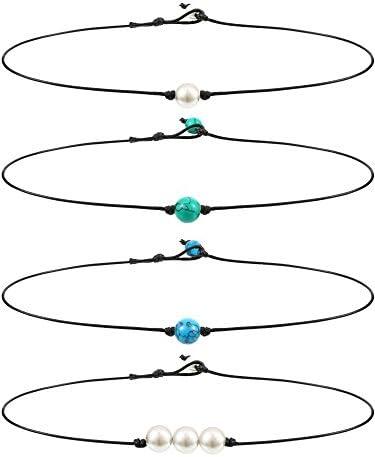 Blulu Necklace Gemstone Turquoise Leather product image