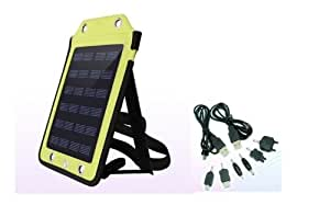 New 6V,410mA Portable Travelling Solar Charger for Cell Phone w/ USB charging cable,GPS,DC,MP3/4