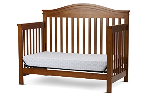 LA Baby Solano Beach 4 in 1 Convertible Crib, - Crib Pecan 1