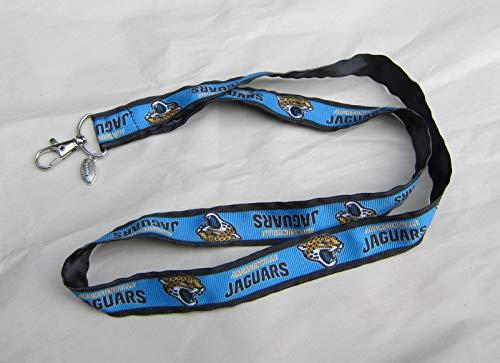 NFL JACKSONVILLE JAGUARS Sport Football Handmade Grosgrain & Satin Ribbon Lanyard/Keychain/Badge Holder w/Metal ()