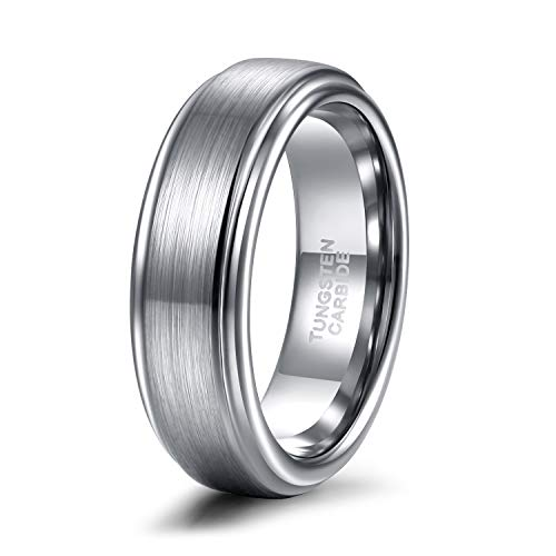 Shuremaster 6mm Mens Womens Tungsten Wedding Ring Matte Finished Wedding Band Comfort Fit Engagement Ring 13