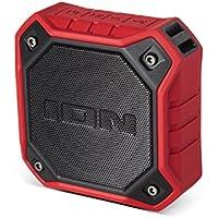 Ion Audio DUNK Red Waterproof Portable Bluetooth Speaker