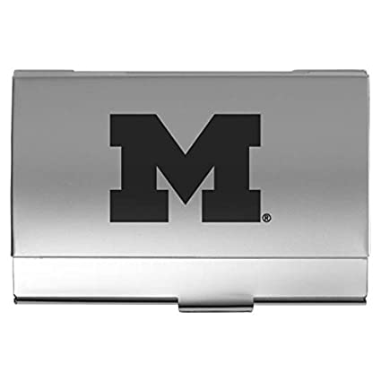 Amazon university of michigan two tone business card holder university of michigan two tone business card holder silver colourmoves