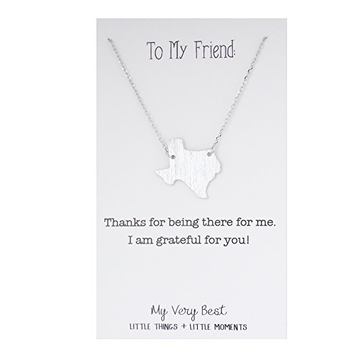 My Very Best Texas Pendant Necklace (silver plated brass)