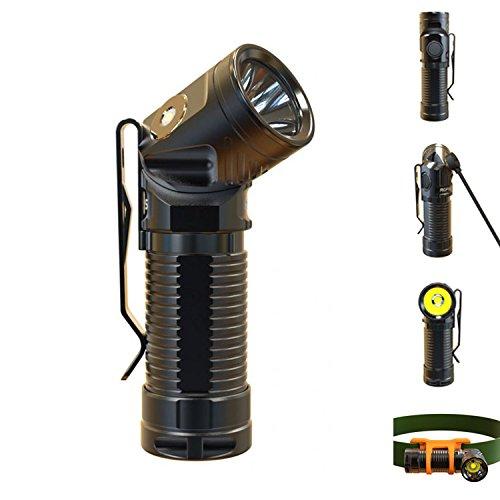 Rofis R1 XM-L2 U2 900Lumens Magnetic Tail Magnetic Rechargeable EDC LED Angel Flashlight Headlamp