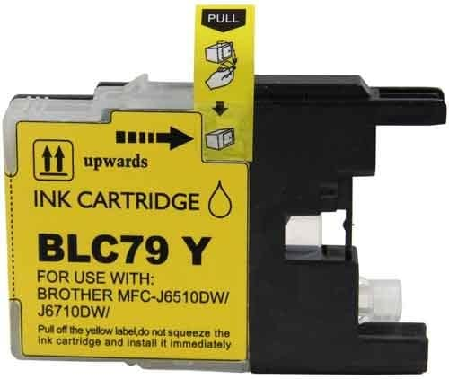6710 6910 Replacement for Brother LC79Y; Models: MFC J6510 12 Inkjet Cartridges Myriad Compatible Inkjet Cartridges Bulk: CLC79Y Extra High Yield; Yellow Ink