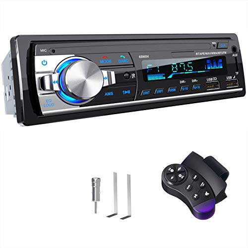 Car Radio Bluetooth Hands-free, CENXINY 4 x 65W RDS Car Stereo Bluetooth 5.0 LCD with Clock, Support USB/AUX in FM/AM…
