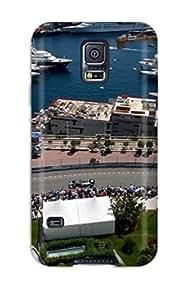 New F1 Circuit Near The Ocean Tpu Case Cover, Anti-scratch JessicaBMcrae Phone Case For Galaxy S5