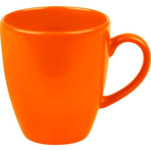 Waechtersbach 16 ounces Fun Factory Orange Jumbo Cafe Latte Cups (Set of 4), Microwave and Dishwasher Safe