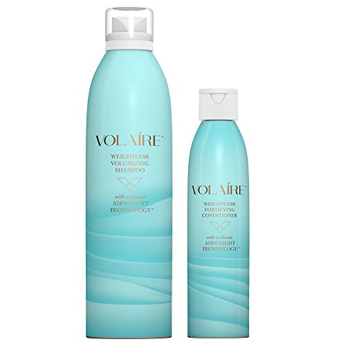 Volaire Weightless Volumizing Shampoo (10.5 Oz) & Weightless Fortifying Conditioner (8 Oz) - Sulfate Free | Paraben Free | Safe for Color Treated Hair by Volaire