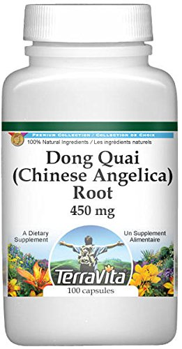 Dong Quai (Chinese Angelica) Root - 450 mg (100 Capsules, ZIN: 511215) - 2 Pack
