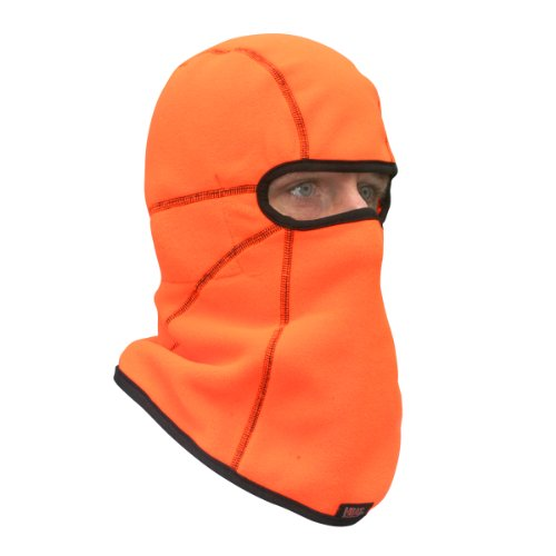 Heat Factory Deluxe Fleece Balaclava Face Mask with 5 Hand Heat Warmer Pockets, Blaze