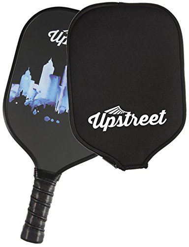 Upstreet Graphite Pickleball Paddle - Polypro Honeycomb Composite Core - Paddles Include Racket Cover by Upstreet