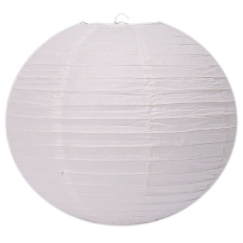 """Olymstore(TM) 12"""" Round Chinese Paper Lantern Light Lamp Shades Lampshade for Wedding Birthday Party Home Decor White"""