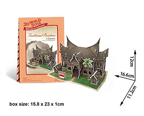 CubicFun Indonesia House 3D Puzzle Boys Girls Model Paper DIY Educational ()