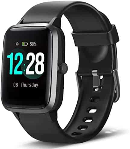 LETSCOM Smart Watch Fitness Tracker Heart Rate Monitor Step Calorie Counter Sleep Monitor Music Control IP68 Water Resistant 1.3