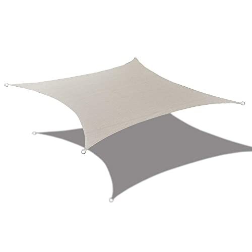 Alion Home HDPE UV Block Sun Shade Sail Permeable Canopy – Square and Rectangle – Custom 185GSM 9 x 18 , Smoke Grey